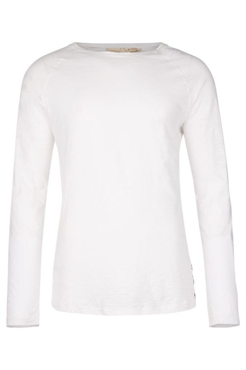 BASIC LONG SLEEVE T-SHIRT - WHITE