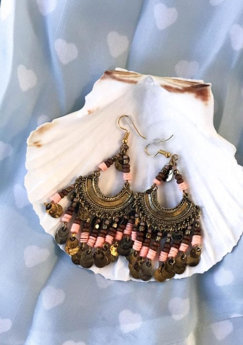 Boho Earrings - Brown