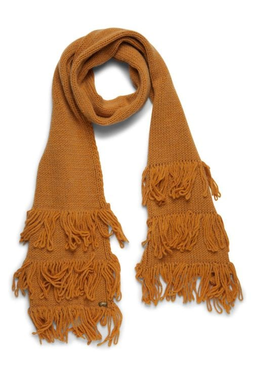 Knitted Scarf Fringes - Yellow