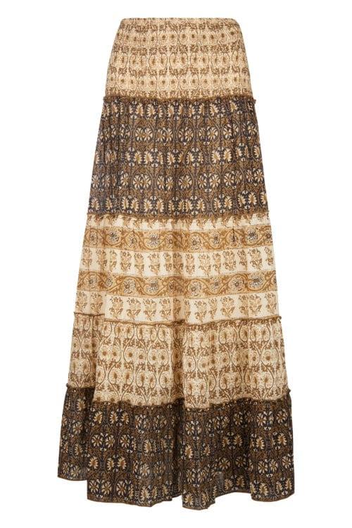 Bohemian Maxi Skirt - Black