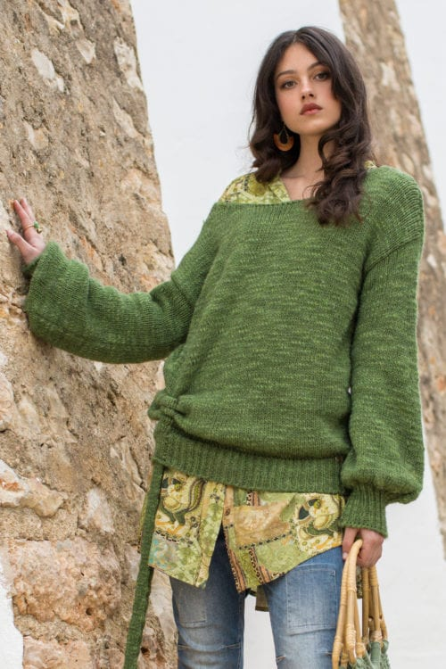 KNITTED JUMPER - GREEN