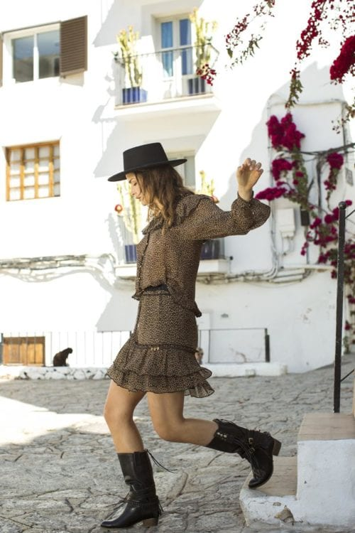 Short Skirt Leopard Print - Brown