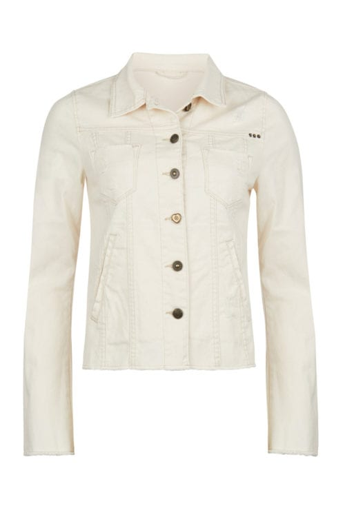 Fitted Jeans Jacket - Cream