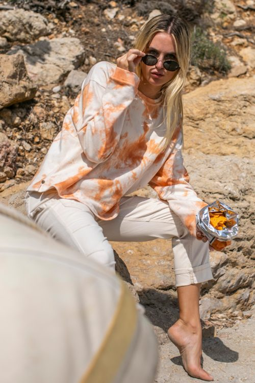 Short Oversized Tie Dye Sweater - Orange