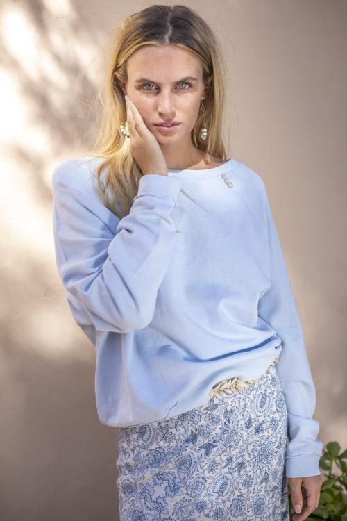 Soft Oversized Sweater – Blue