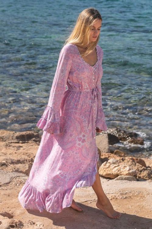 Bohemian Paisley Maxi Dress – Lila
