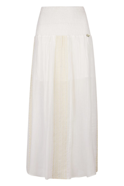 Embroidered Maxi Skirt – White