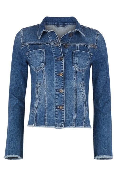 Fitted Denim Jacket - Blue
