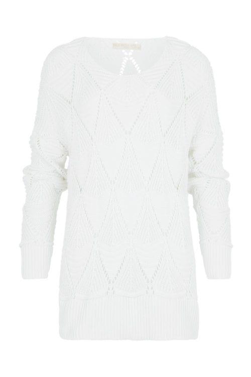 Knitted Jumper Diamond - White