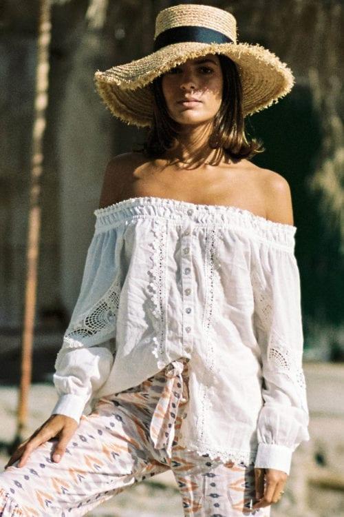 Off Shoulder Blouse Cavallet - Cream