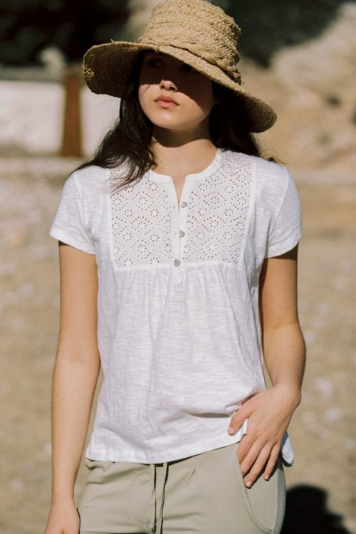 Embroidery T-Shirt Bella - White