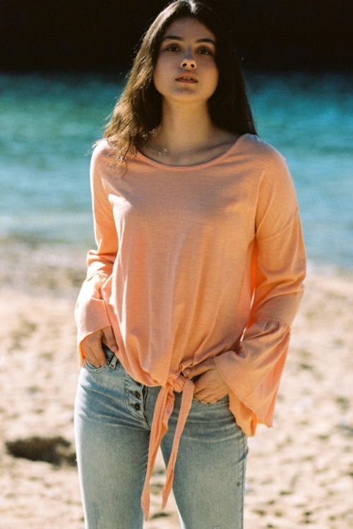 Long Sleeve T-Shirt Chica - Orange