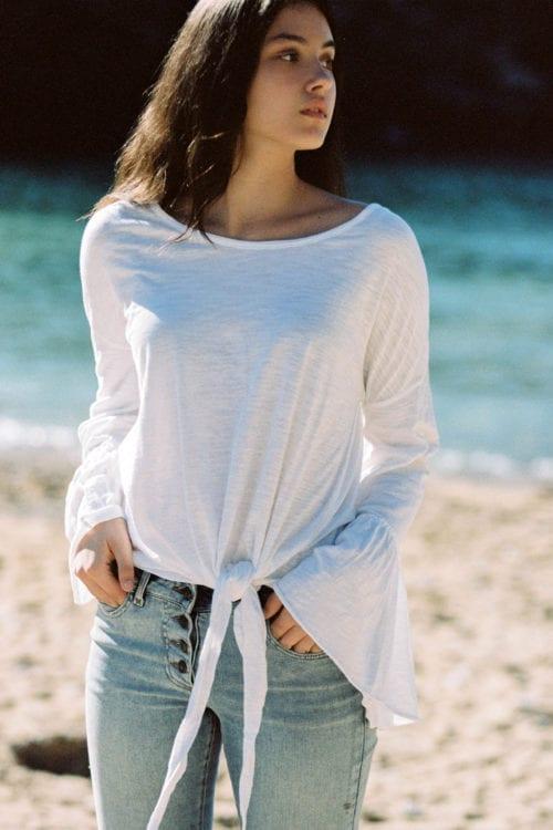 Long Sleeve T-Shirt Chica - White