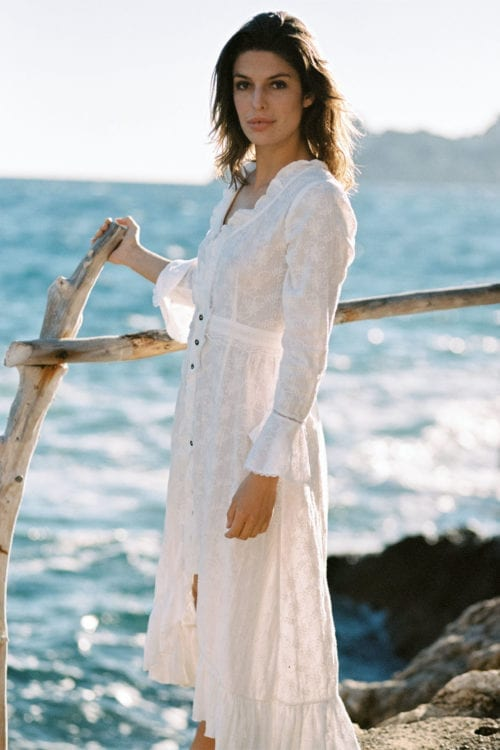 Boho Long Dress Gertrudis - White