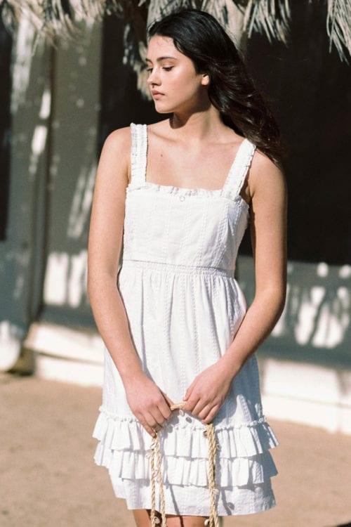 Sleeveless Short Dress Pinet - White